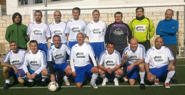 Los veteranos del C.D. Zarceño participan en la Liga de Fútbol-7 de Mérida