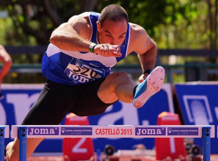 Juan Manuel Corbacho participó en los Campeonatos de España de Atletismo